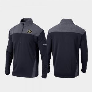 Colorado Buffaloes Jacket Men's Omni-Wick Standard Black Quarter-Zip Pullover