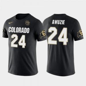 Colorado Buffaloes Chidobe Awuzie T-Shirt #24 Men's Future Stars Black Dallas Cowboys Football