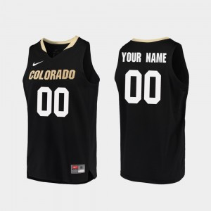 Colorado Buffaloes Custom Jerseys #00 College Basketball Black Men's Replica