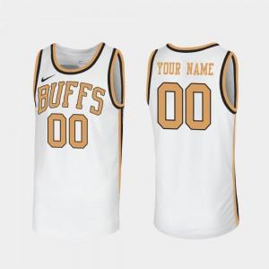 Colorado Buffaloes Custom Jersey Throwback #00 Sox Walseth-Era For Men's White