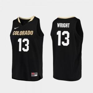 Colorado Buffaloes Namon Wright Jersey Black #13 For Men College Basketball Replica