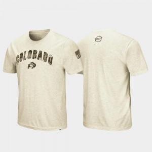Colorado Buffaloes T-Shirt Mens Oatmeal OHT Military Appreciation Desert Camo