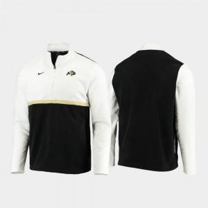 Colorado Buffaloes Jacket White Black Quarter-Zip Pullover Mens Color Block