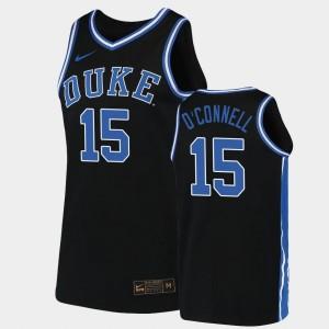 Duke Blue Devils Alex O'Connell Jersey 2019-20 College Basketball #15 Black For Men Replica