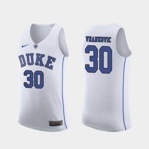 Duke Blue Devils Antonio Vrankovic Jersey Men's Authentic #30 March Madness College Basketball White