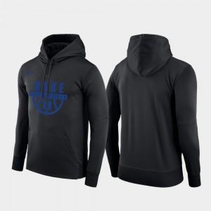 Duke Blue Devils Hoodie Pullover For Men's Black Basketball Drop Circuit