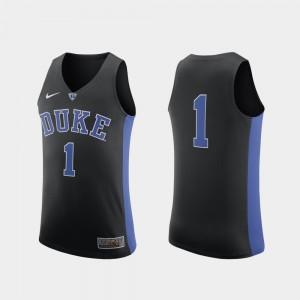Duke Blue Devils Jersey Authentic Black For Men's #1 College Basketball