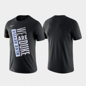 Duke Blue Devils T-Shirt Just Do It Basketball Performance Black For Men's
