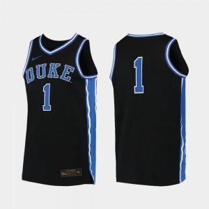 Duke Blue Devils Jersey Replica Black Men's #00 College Basketball