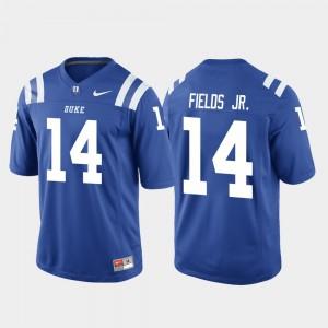 Duke Blue Devils Bryon Fields Jr. Jersey College Football Royal For Men's #14 Game