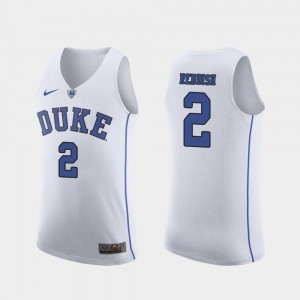 Duke Blue Devils Cam Reddish Jersey White March Madness College Basketball #2 Mens Authentic