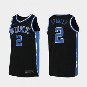 Duke Blue Devils Cassius Stanley Jersey Black 2019-20 College Basketball Replica #2 For Men