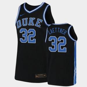 Duke Blue Devils Christian Laettner Jersey 2019-20 College Basketball Replica Black Mens #32