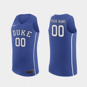 Duke Blue Devils Customized Jerseys For Men's March Madness College Basketball Authentic #00 Royal