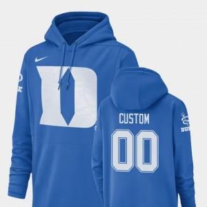 Duke Blue Devils Custom Hoodie Football Performance Royal Champ Drive For Men #00