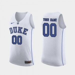 Duke Blue Devils Customized Jerseys Men March Madness College Basketball Authentic White #00
