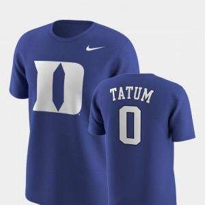 Duke Blue Devils Jayson Tatum T-Shirt Future Stars For Men Replica Royal #0