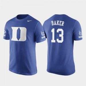 Duke Blue Devils Joey Baker T-Shirt Basketball Replica #13 Future Stars Men Royal