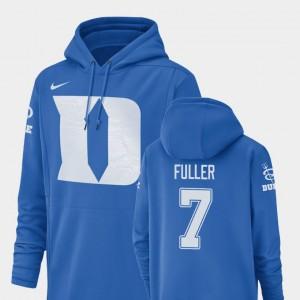 Duke Blue Devils Keyston Fuller Hoodie Men #7 Champ Drive Football Performance Royal