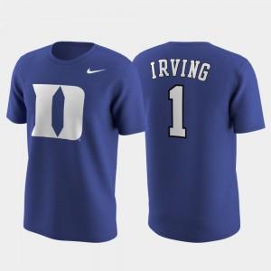 Duke Blue Devils Kyrie Irving T-Shirt #1 Replica College Future Star Royal Future Stars For Men