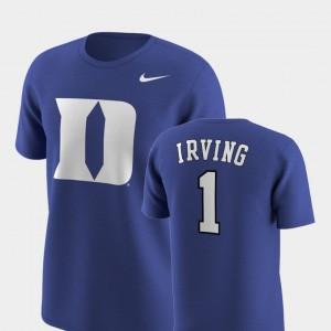 Duke Blue Devils Kyrie Irving T-Shirt Replica Future Stars Royal #1 For Men