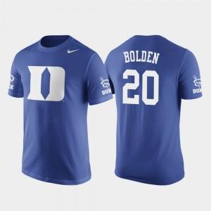 Duke Blue Devils Marques Bolden T-Shirt Basketball Replica Future Stars #20 Royal Men's