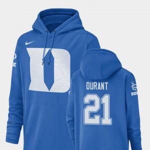 Duke Blue Devils Mataeo Durant Hoodie Football Performance #21 Mens Royal Champ Drive