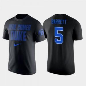Duke Blue Devils RJ Barrett T-Shirt Black #5 College Basketball 2 Hit Performance For Men