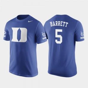 Duke Blue Devils RJ Barrett T-Shirt Basketball Replica Mens #5 Royal Future Stars