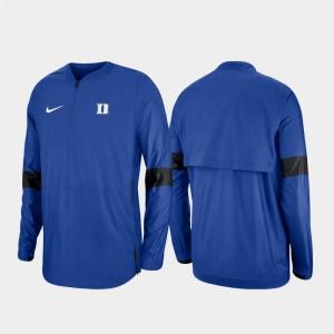 Duke Blue Devils Jacket Royal Men 2019 Coaches Sideline Quarter-Zip