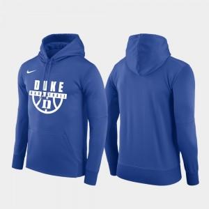 Duke Blue Devils Hoodie Royal Basketball Drop Circuit For Men's Pullover