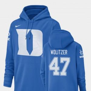 Duke Blue Devils Ryan Wolitzer Hoodie Royal #47 Men's Football Performance Champ Drive