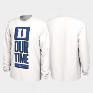 Duke Blue Devils T-Shirt White 2020 March Madness For Men Our Time Bench Legend