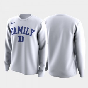 Duke Blue Devils T-Shirt March Madness Legend Basketball Long Sleeve For Men Family on Court White