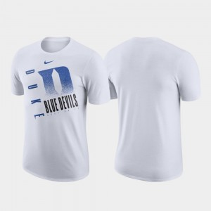 Duke Blue Devils T-Shirt White Performance Cotton Mens Just Do It