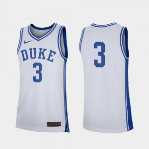 Duke Blue Devils Jersey College Basketball Replica #3 Mens White