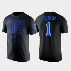 Duke Blue Devils Zion Williamson T-Shirt Men College Basketball #1 2 Hit Performance Black