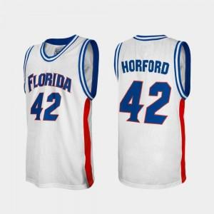 Florida Gators Al Horford Jersey White For Men's Alumni #42 College Basketball