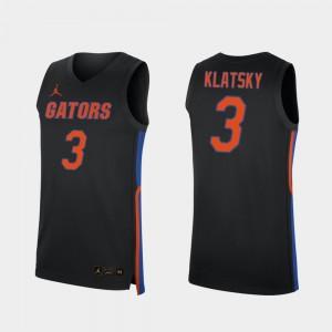 Florida Gators Alex Klatsky Jersey #3 2019-20 College Basketball Black For Men's Replica