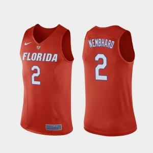 Florida Gators Andrew Nembhard Jersey College Basketball Replica Orange For Men's #2