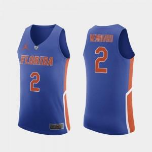 Florida Gators Andrew Nembhard Jersey #2 Men's College Basketball Royal Authentic