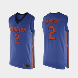 Florida Gators Andrew Nembhard Jersey Replica College Basketball Royal Blue #2 Mens