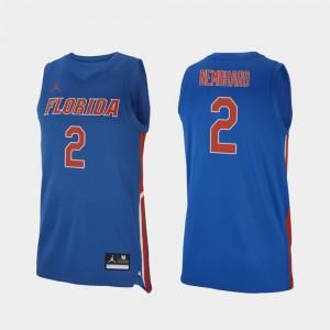 Florida Gators Andrew Nembhard Jersey Royal #2 For Men Replica College Basketball