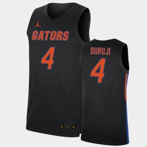 Florida Gators Anthony Duruji Jersey #4 For Men's Replica Black 2019-20 College Basketball