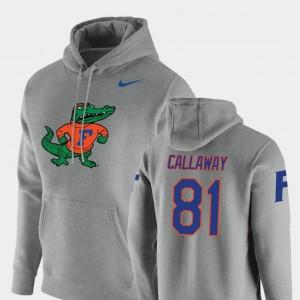 Florida Gators Antonio Callaway Hoodie Vault Logo Club Pullover Men #81 Heathered Gray