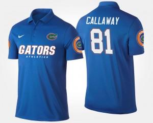 Florida Gators Antonio Callaway Polo #81 Blue For Men