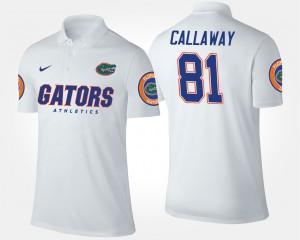 Florida Gators Antonio Callaway Polo White Mens #81