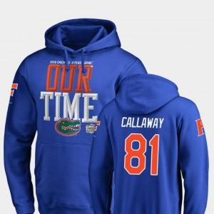 Florida Gators Antonio Callaway Hoodie Men 2018 Peach Bowl Bound #81 Counter Royal