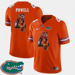 Florida Gators Brandon Powell Jersey Football #4 Mens Pictorial Fashion Orange
