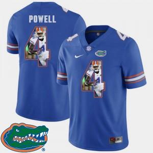Florida Gators Brandon Powell Jersey Football #4 For Men Pictorial Fashion Royal